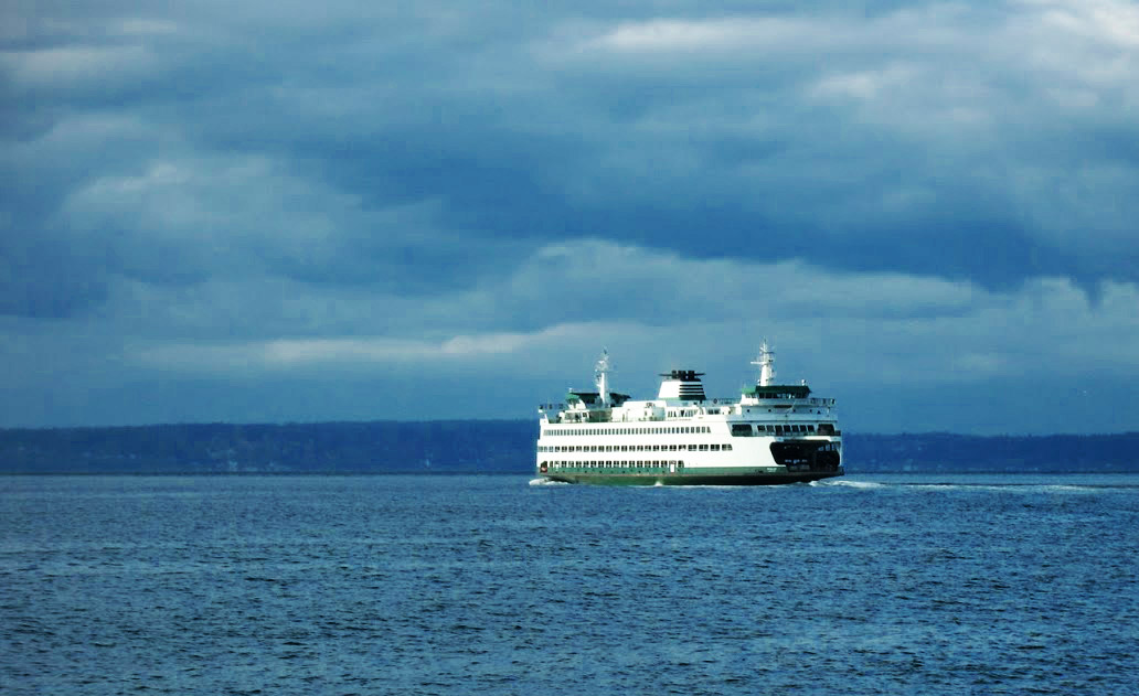 Ferry in Puget Sound | Credit: Kevin Rank